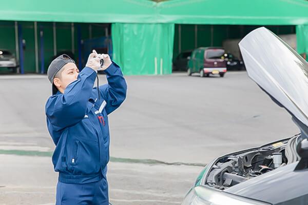 車輌の写真撮影